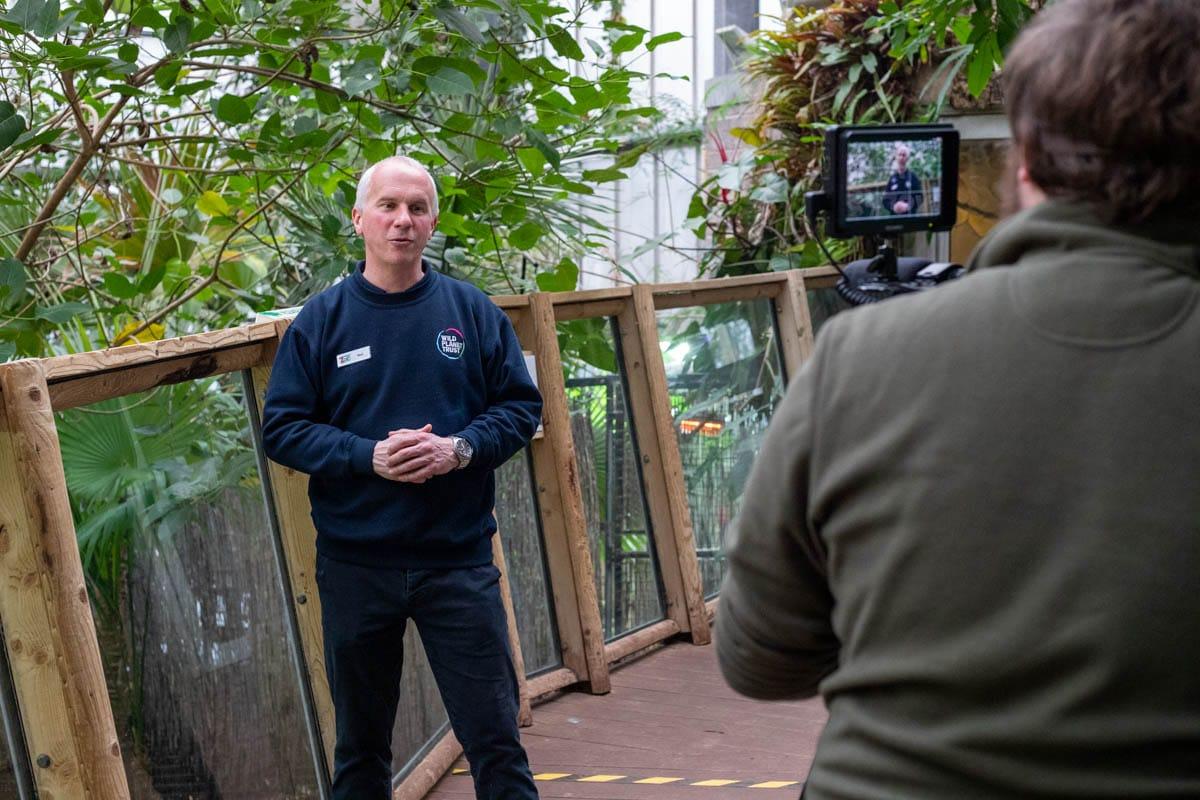 Education Team Presenting At Paignton Zoo