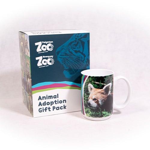 Red panda adult adoption box