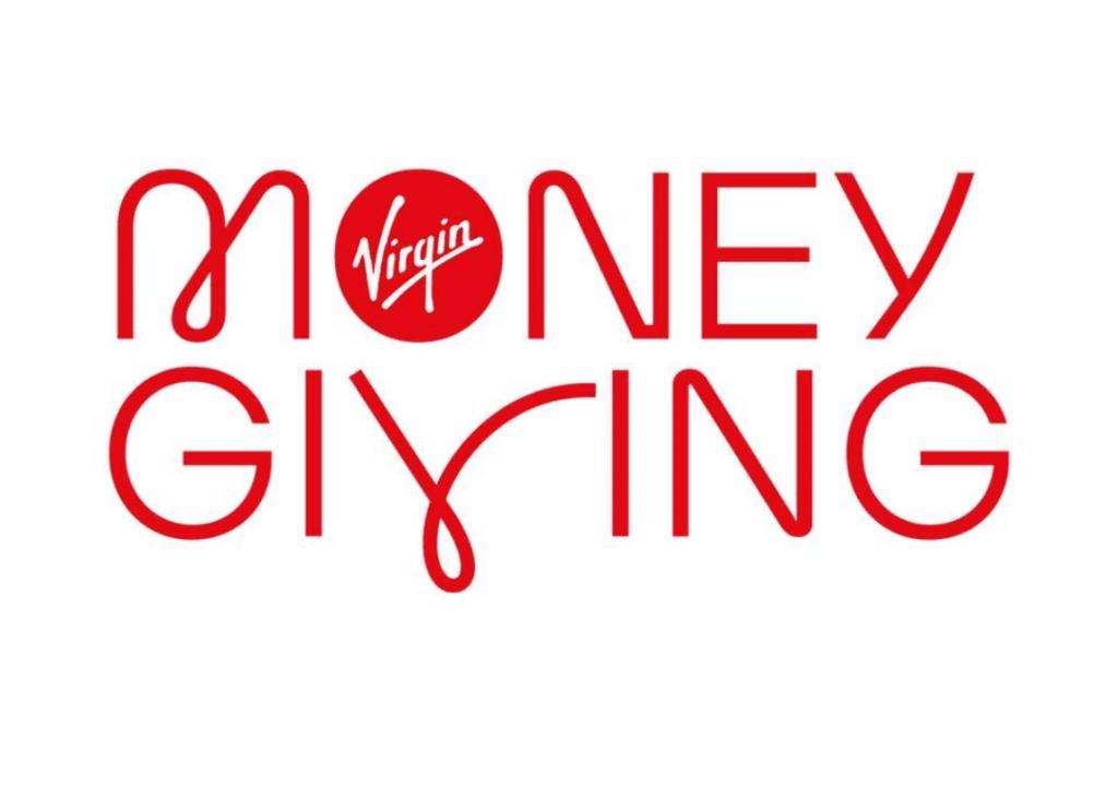 Virgin Money Giving Logo - White BG