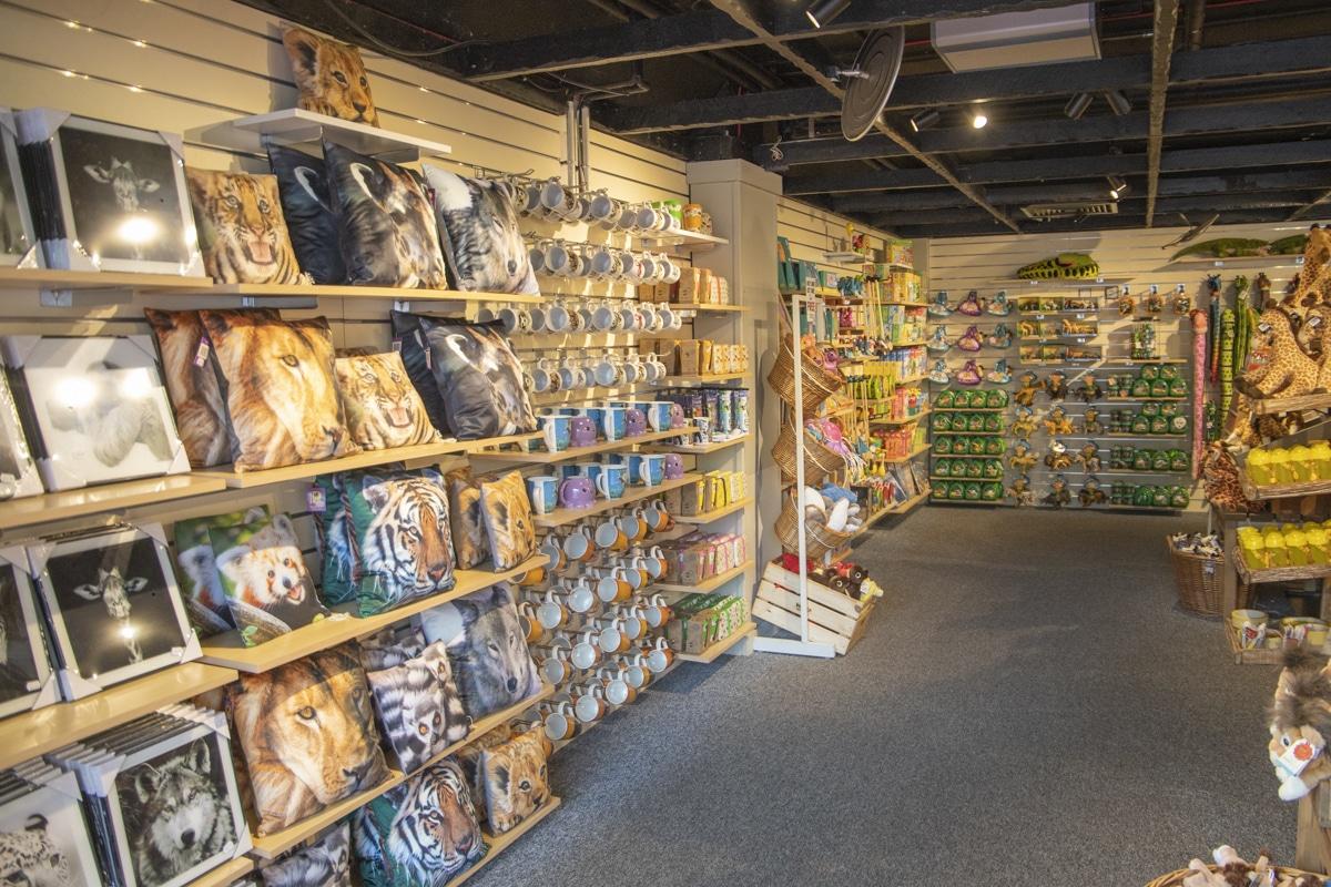 Entrance of Paignton Zoo gift shop