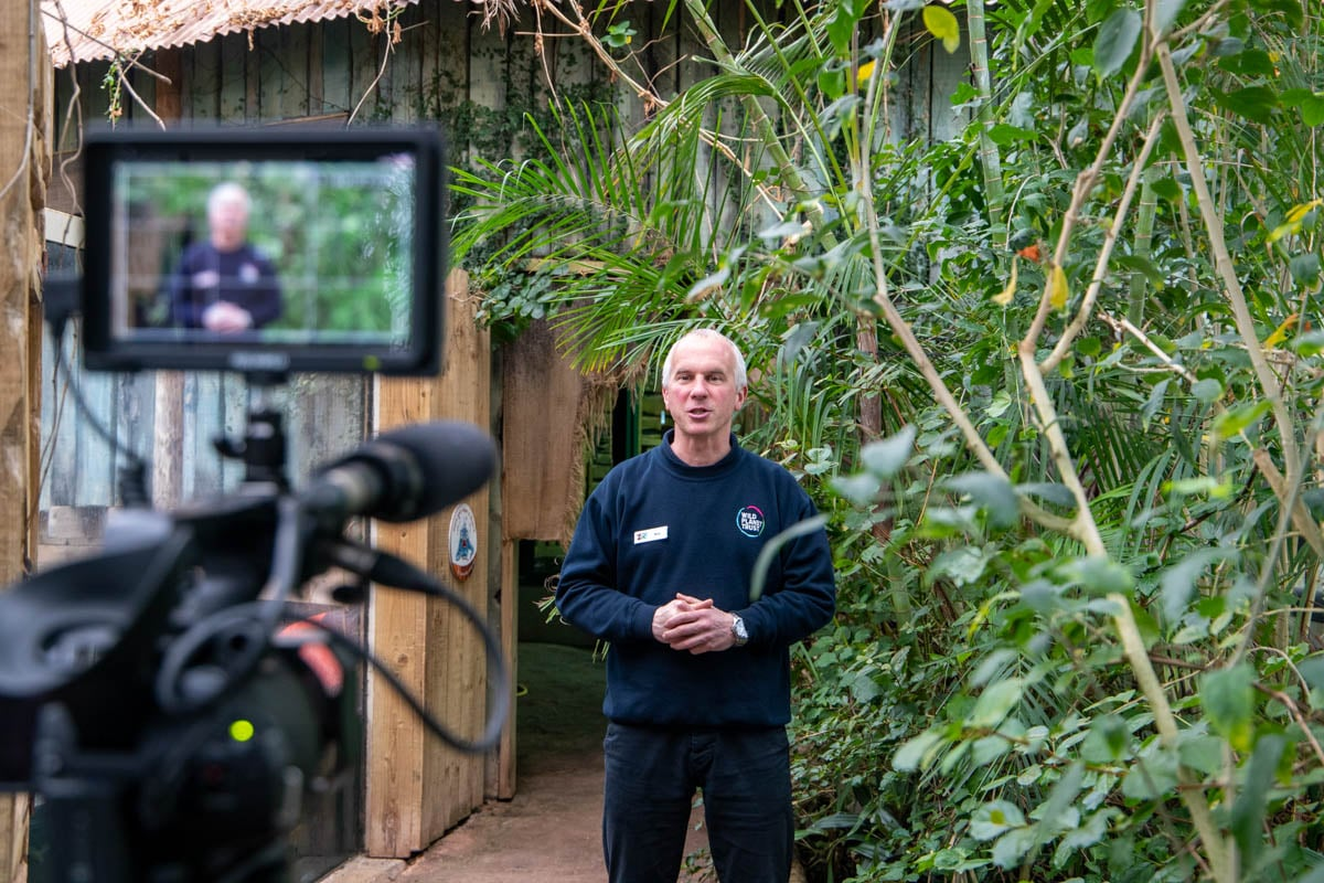Education Matt giving keeper talk in Crocodile Swamp