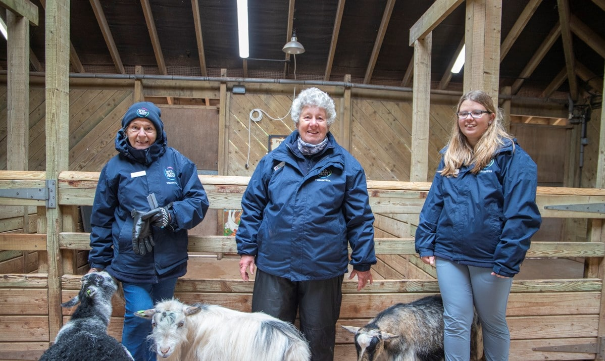 Ranch volunteers at Paignton Zoo